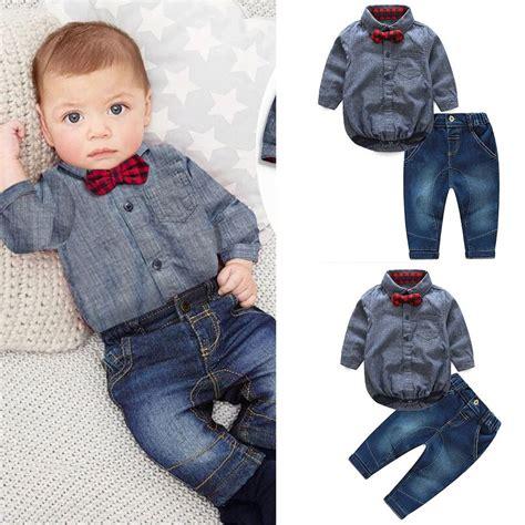 2pcs Newborn Toddler Baby Romper Jumpsuit Bodysuit Clothe 2pcs newborn baby boys romper jumpsuit tops clothes set ebay
