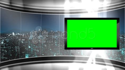 image gallery wallpaper tv hd virtual tv studio news set with city skyline in the