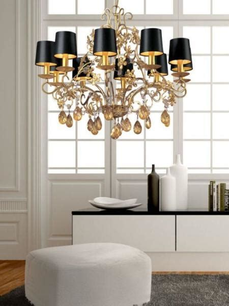 Black And White Chandelier Shades 25 Ways To Add Black L Shades And Exclusive Style To Modern Interior Design