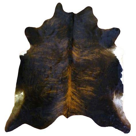 Large Cowhide Black Brindle Cowhide Large