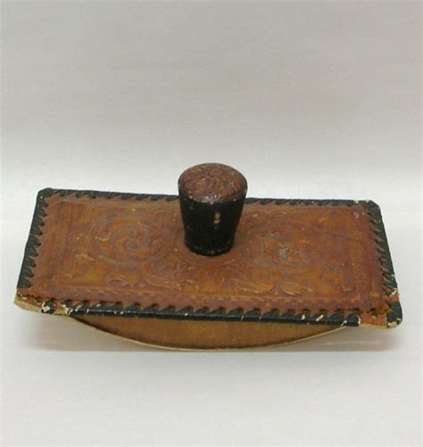 Ink Leather by Pressed Leather Ink Blotter Ink Blotter Desk Top And