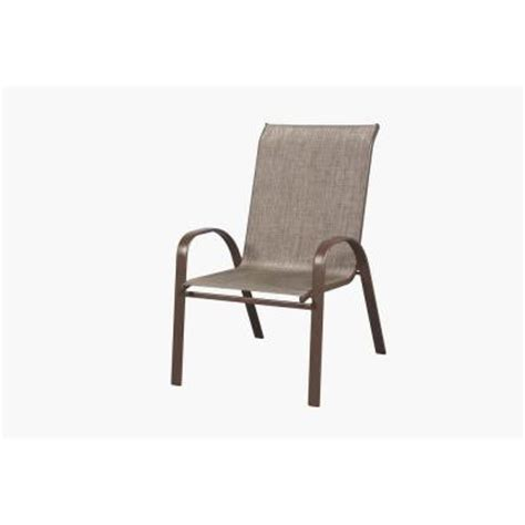 Oversized Sling Stack Patio Chair Fcs00015x The Home Depot Oversized Patio Chairs