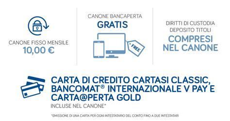banc perta servizi bancari via conto corrente armonia 2 0