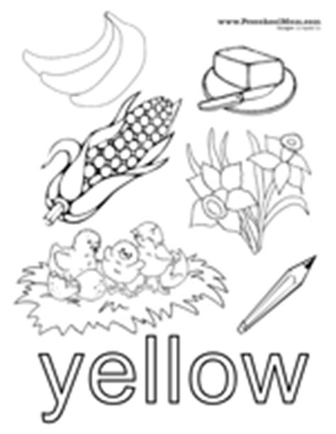 preschool yellow coloring pages color preschool printables