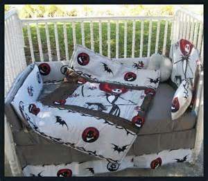 custom made new nightmare before crib bedding