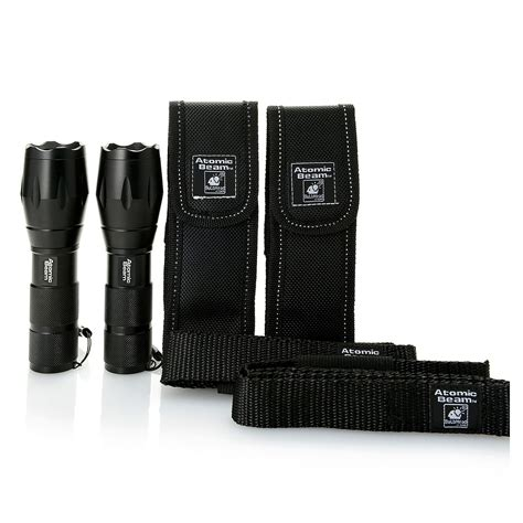 atomic beam vs tac light atomic beam set of 2 5000 lux tactical led flashlights w
