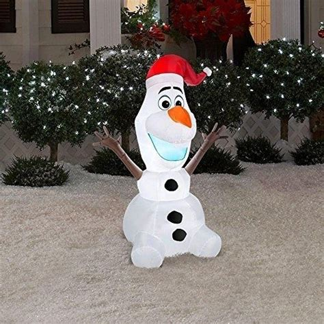Up Yard Decorations For - disney frozen olaf 6 foot airblown