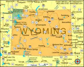 Map Of Wyoming State by Atlas Wyoming