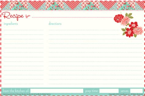13 Recipe Card Templates Excel Pdf Formats Recipe Card Templates