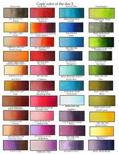 copic markers color chart suggested color combos for copic marker fans copic