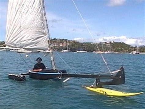 hydrofoil boat build hydrofoil sailboat quot valkyrie quot youtube