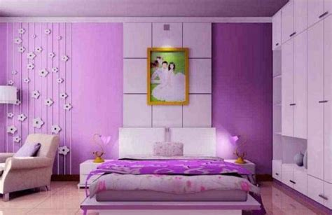 kombinasi warna cat kamar tidur pink  indah