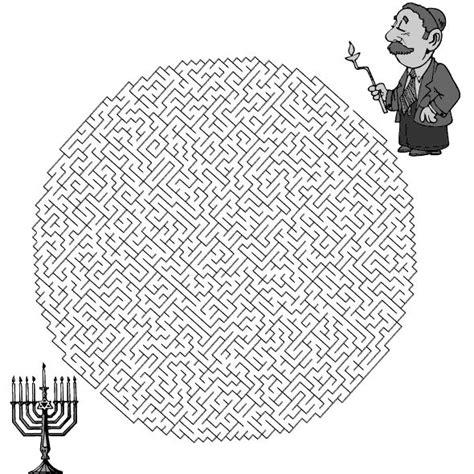 printable hanukkah maze 17 images about hanukkah on pinterest menorah kids