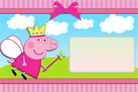 peppa pig invitation card template peppa pig invitation template free printable invitation