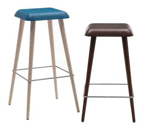 Blue Wooden Bar Stools by Kitchen 24 Modern And Kitchen Bar Stools To