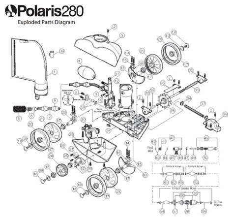 polaris pool parts diagram polaris 280 pool cleaner pool supply 4 less