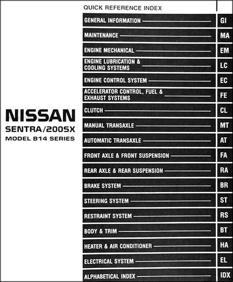 service manual online car repair manuals free 1995 nissan sentra electronic toll collection