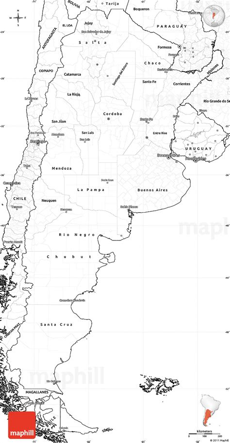 printable map argentina argentina blank map