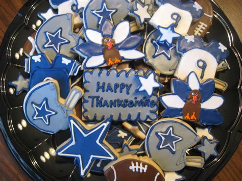 Dallas Thanksgiving Game Blog Sweet Suziq Cookies Custom Decorated Cookies For