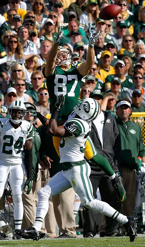 jordy nelson game log photos from the green bay packers vs new york jets nfl