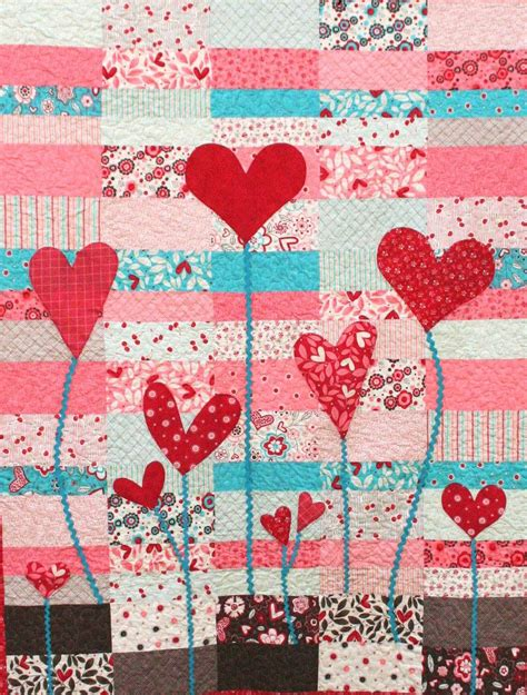 Free Quilting Projects by Quilt Inspiration Free Pattern Day Hearts And Valentines