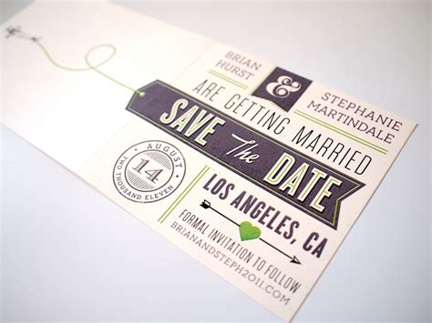 invitation design typography brian stephanie s modern aviation save the dates