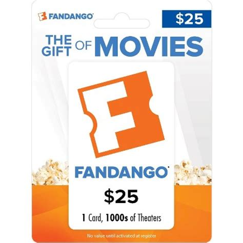 What Is A Fandango Gift Card - fandango movie gift card 25 target