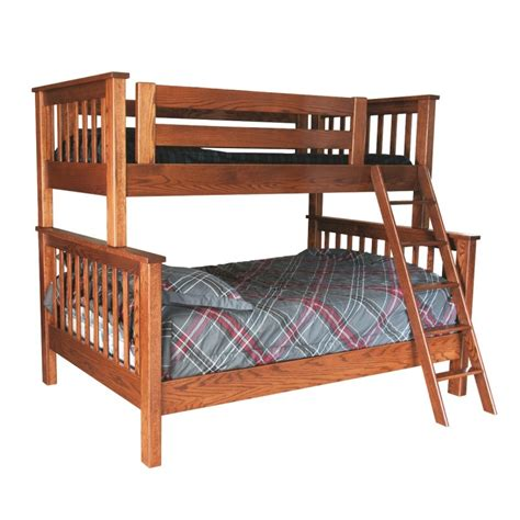 Twin Over Full Bunk Bed Solid Wood Bunk Bed Amish Made Wood Bunk Beds