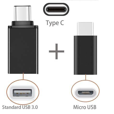 Adapter Converter Xiaomi Micro Usb To Usb 3 1 Type C Usb C W46 2in1 type c to usb otg adaptor type c to micro usb adapter for xiaomi huawei lenovo zuk z2 pro