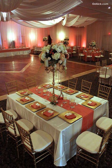 Table setting example   Wedding!   Pinterest   Coral