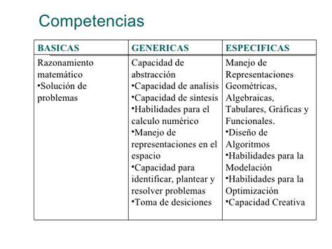 preguntas genericas y especificas 1 competencias en el calculo matematico