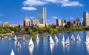 sailboats cost white sailboats off the coast boston view 1588847