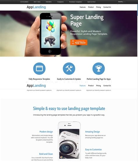 30 latest free responsive html5 css3 site templates