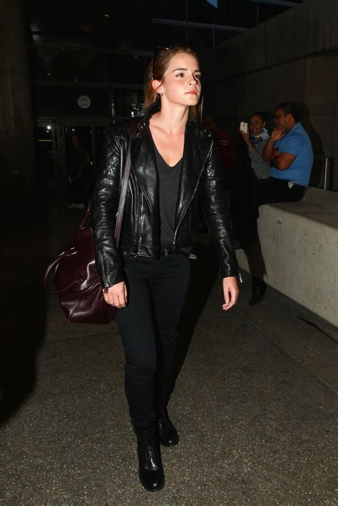 emma watson jacket emma watson leather jacket leather jacket lookbook