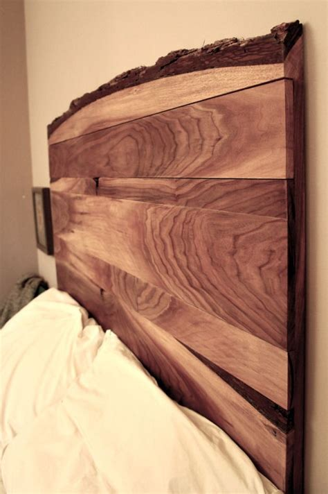simple bed headboards live edge headboard black walnut mizani designs