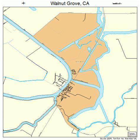 map of walnut california walnut grove california map 0683374