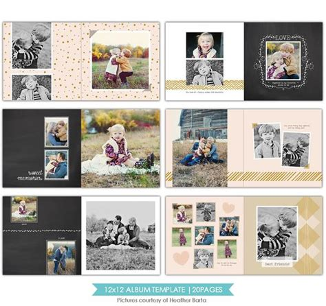 free spirits 12x12 album template birdesign