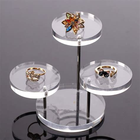 I Ring Iring Stand Holder Karakter Swarovski Stand Un Murah clear acrylic table jewelry display showcase stand holder alex nld