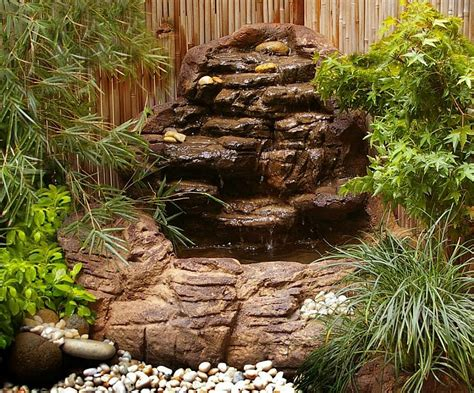 small backyard corner pond waterfall kit garden patio