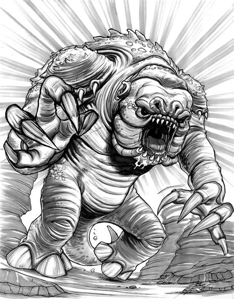 rancor coloring pages rancor by heidiarnhold on deviantart