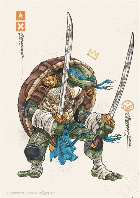 graffiti styled teenage mutant ninja turtles fan art by
