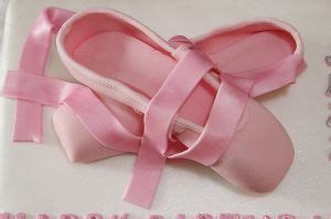 fondant ballerina slippers ballet shoes pointe cake with handmade fondant ballet shoes
