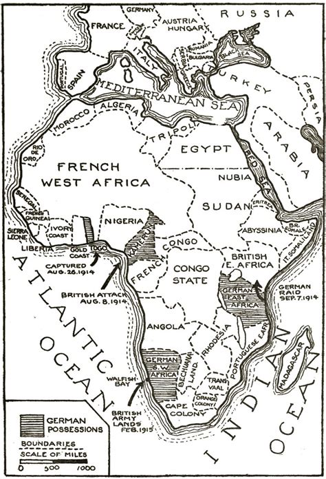 Scramble For Africa Outline Map by Imperialism Wwi The Great War Sept 10 To Sept 24 Historical Perspectives