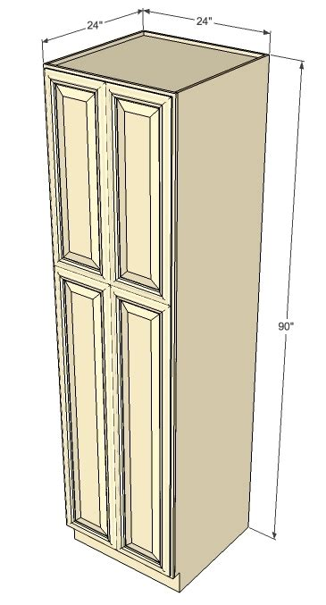 24 inch unfinished pantry cabinet tuscany white maple pantry cabinet unit 24 inch wide x 90