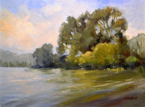 bob ross painting water reflections california central coast paintings san luis obispo