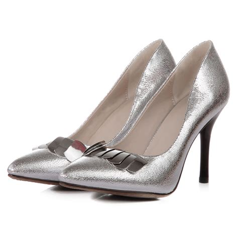silver pointed toe high heels 2014 gold silver pointed toe high heels