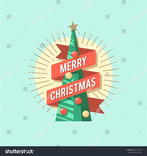 christmas cards shutterstock card tree vector flat stock vector 325148099