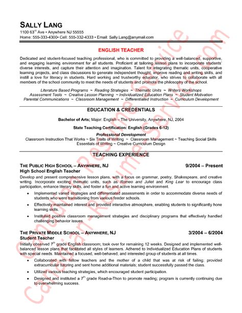 Best Resume Template In English by Epic English Teacher Resume Example Or Sample