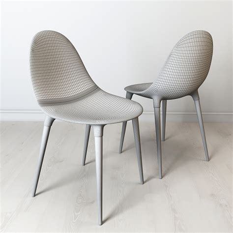 3d models chair philippe starck cassina caprice chair