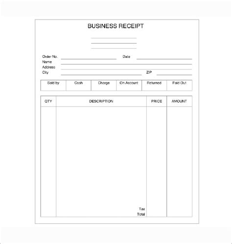 free templates for business receipts business receipt template 7 free word excel pdf